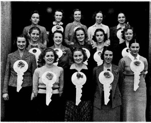 """The Also-Rans from 1939 wearing their traditional """"keys."""""""